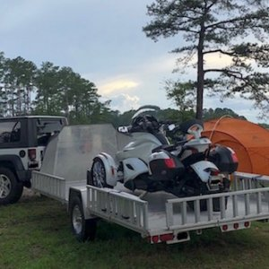 2013 Can-Am Spyder ST Limited on Aluma Trailer with Sypder SuperClamp tie-down system